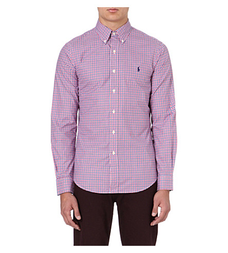 RALPH LAUREN Cotton check shirt (Fl61c-royal/ras