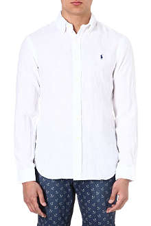 RALPH LAUREN Slim-fit linen shirt
