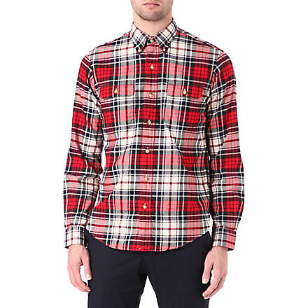 RALPH LAUREN Checked work shirt (Fl-188 red/crea