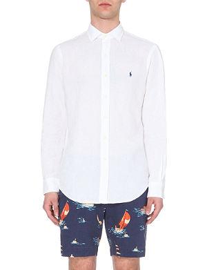 RALPH LAUREN Slim-fit linen shirt