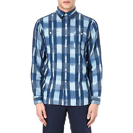 RALPH LAUREN Washed check shirt (Cr03-indigo/whi