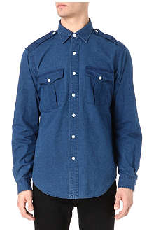 RALPH LAUREN Military cotton-denim shirt