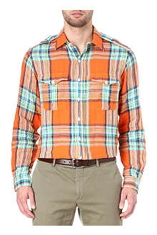 RALPH LAUREN Buttoned shoulder checked shirt