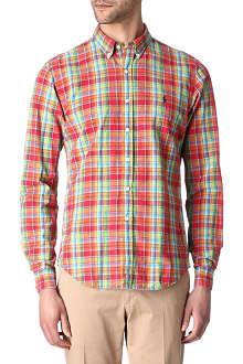 RALPH LAUREN Checked slim-fit shirt