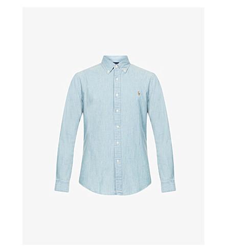 5aed4d5964 POLO RALPH LAUREN Slim-fit single-cuff denim shirt (Medium+wash