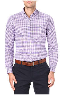 RALPH LAUREN Embroidered–logo slim fit single cuff shirt