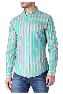 RALPH LAUREN Striped slim-fit single-cuff shirt