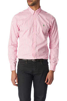 RALPH LAUREN Striped slim fit single cuff sport shirt