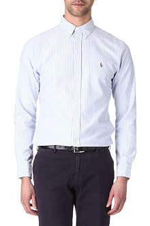 RALPH LAUREN Logo slim-fit single cuff shirt