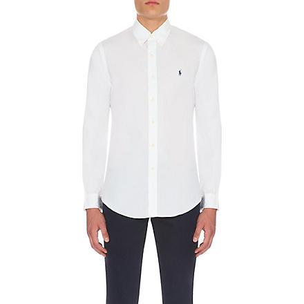 RALPH LAUREN Slim-fit single-cuff shirt (White