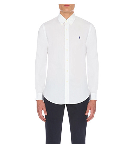 RALPH LAUREN Slim-fit single-cuff shirt (White