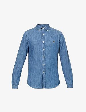RALPH LAUREN Slim-fit denim sport shirt