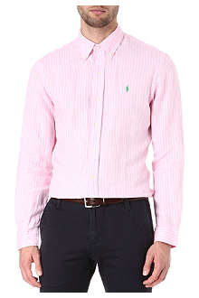 RALPH LAUREN Slim fit striped linen shirt