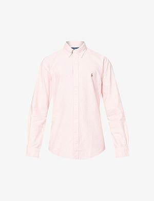 RALPH LAUREN Embroidered logo slim fit single cuff shirt