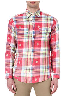 RALPH LAUREN Embroidered check shirt