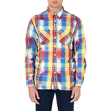 RALPH LAUREN Bright check shirt (Su14-yellow/blu