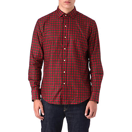 RALPH LAUREN Classic-fit tartan shirt (Fl-314+red/gree