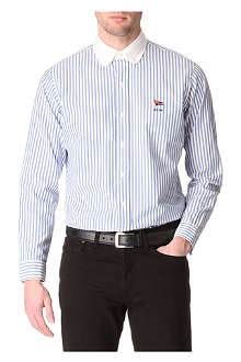 RALPH LAUREN Custom-fit single-cuff striped shirt