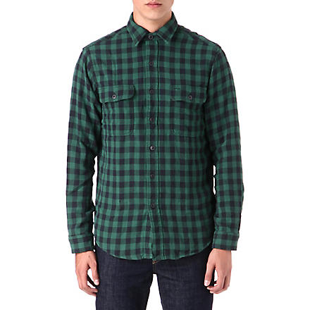 RALPH LAUREN Checked cotton work shirt (Fl-227c green/b