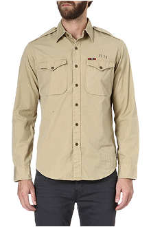 RALPH LAUREN Military Traveler epaulette shirt