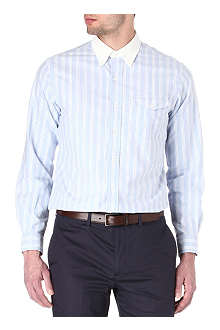 RALPH LAUREN Custom-fit contrast-collar Oxford shirt