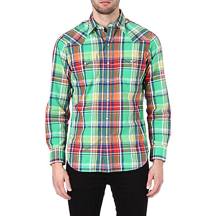 RALPH LAUREN Western checked shirt (Cr10-green/red