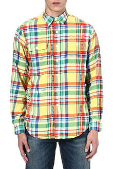 RALPH LAUREN Custom-fit patterned shirt