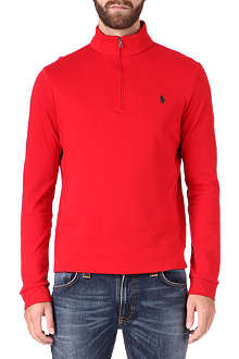 RALPH LAUREN Long-sleeved zip-neck sweatshirt