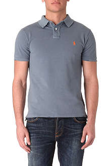 RALPH LAUREN Slim-fit distressed polo shirt
