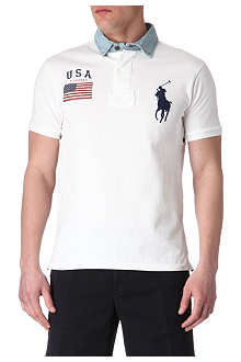 RALPH LAUREN Slim-fit USA polo shirt