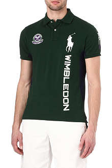 RALPH LAUREN Wimbledon contrast-panel polo shirt