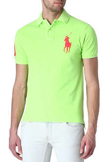 RALPH LAUREN Slim fit Big Pony mesh polo shirt