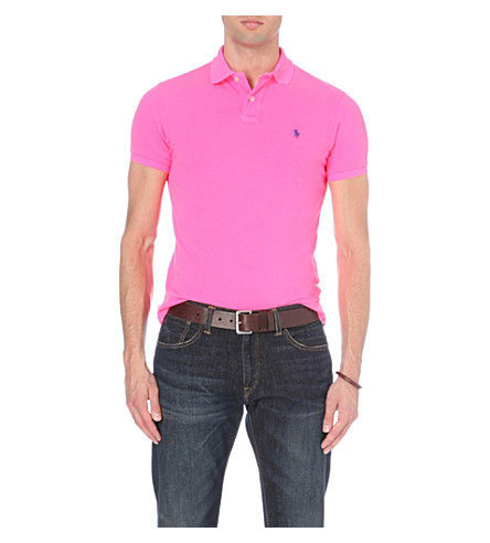 POLO RALPH LAUREN Custom-fit cotton-piqué polo shirt (Advantage+pink