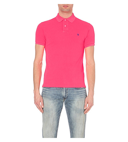 POLO RALPH LAUREN Slim-fit cotton-piqué polo shirt (Advantage+pink
