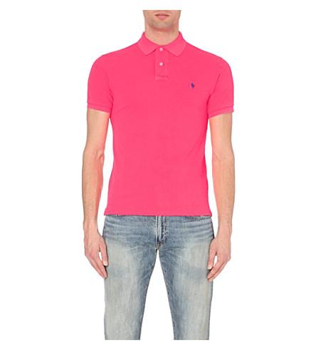 POLO RALPH LAUREN Slim-fit cotton-piqué polo shirt (Advantage+pink