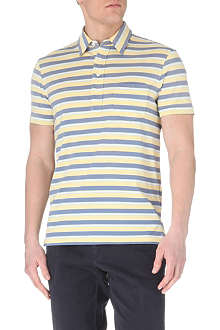 RALPH LAUREN Custom-fit striped pocket polo shirt