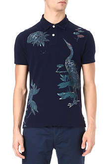 RALPH LAUREN Wildlife print cotton polo shirt