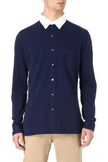 RALPH LAUREN Contrast collar cotton shirt