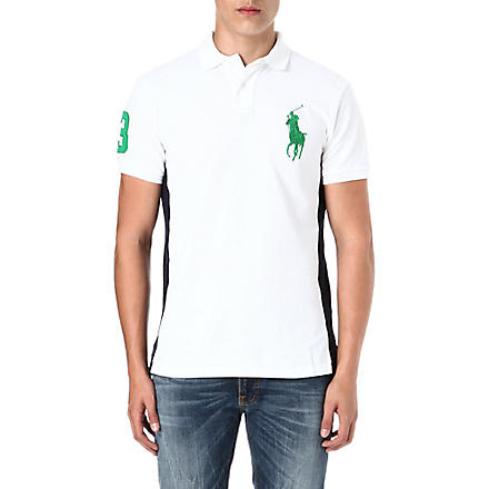 RALPH LAUREN Custom-fit big pony polo shirt (White