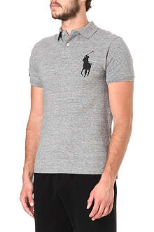 RALPH LAUREN Slim-fit Big Pony mesh polo shirt