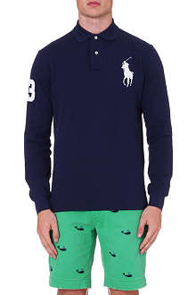 RALPH LAUREN Custom-fit long-sleeved polo shirt