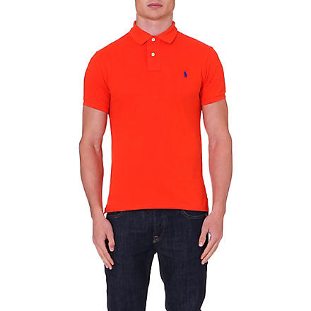 RALPH LAUREN Slim-fit cotton polo shirt (Bttrswt