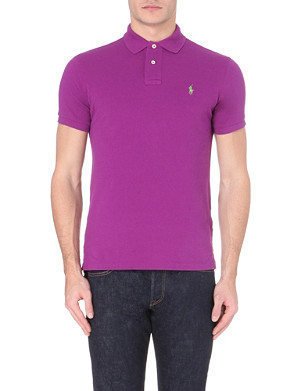 RALPH LAUREN Custom-fit logo cotton-piqué polo shirt