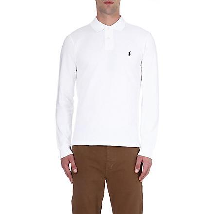 RALPH LAUREN Slim-fit polo shirt (White