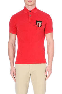 RALPH LAUREN Flag crest polo shirt