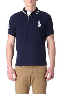 RALPH LAUREN Wimbledon custom-fit twin-tipped polo shirt