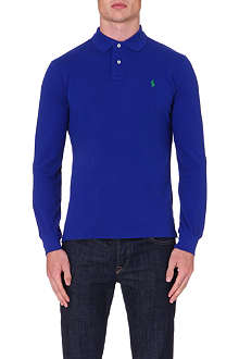 RALPH LAUREN Custom-fit long sleeve polo shirt