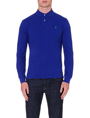RALPH LAUREN Custom-fit long sleeve polo shirt