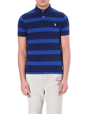 RALPH LAUREN Stripe-print custom-fit polo shirt