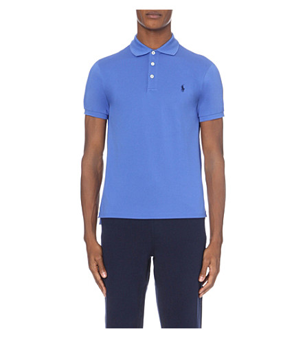 POLO RALPH LAUREN Slim-fit stretch-cotton polo shirt (Blue